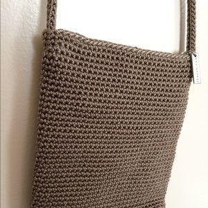 The Sak Small Tan Crocheted Boho Crossbody